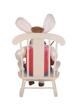 Karen Didion Artist Bunny W Chair Easter Spring Collectible