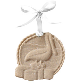 Digs Pelican Sand Christmas Ornament