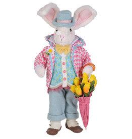 Karen Didion Floral Umbrella Bunny Easter Spring Collectible