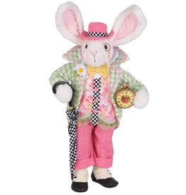 Karen Didion Time For A Stroll Bunny Easter Spring Collectible
