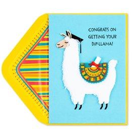 PAPYRUS® Graduation Card Dip - LLama