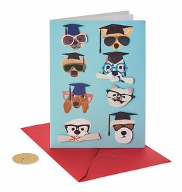 PAPYRUS® Graduation Card Dogs With Grad Hats And Glasses
