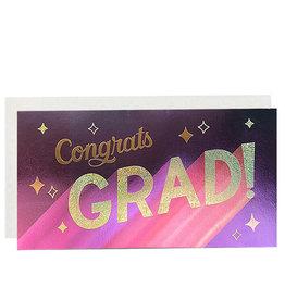 PAPYRUS® Graduation Card Money Enclosure Metallic Congrats