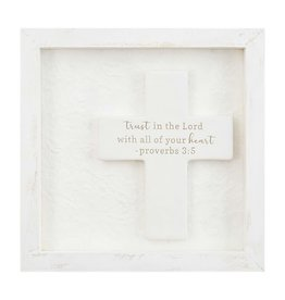 Mud Pie Ceramic Plaque Shadow-Box Trust In The Lord