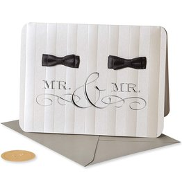 PAPYRUS® Wedding Card Gay Wedding Mr And Mr Groom Bow Ties