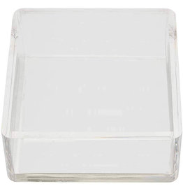 Mud Pie Clear Acrylic Cocktail Napkin Holder