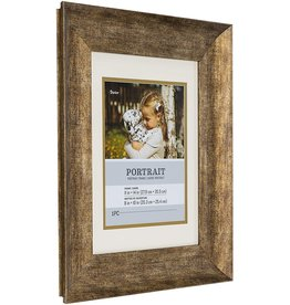 Darice Rustic Gold 11x14 Portrait Photo Picture Frame with Fillet