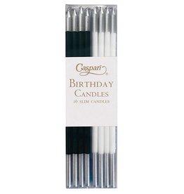 Caspari Slim Birthday Candles In Black White Mix 16PK