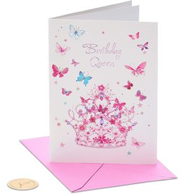 PAPYRUS® Birthday Card Tiara With Butterflies