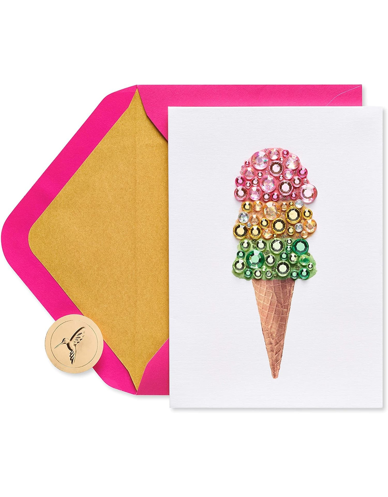 PAPYRUS® Birthday Card Gem Ice Cream Cone