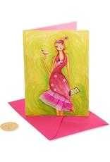 PAPYRUS® Birthday Card Girl In Flamingo Dress by Bella Pilar