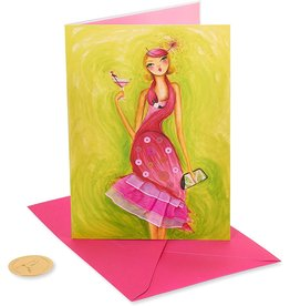 PAPYRUS® Birthday Card Girl In Flamingo Dress by Bella Pilar