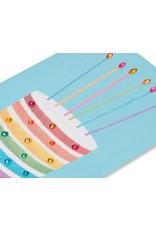 PAPYRUS® Birthday Card Glittered Rainbow Cake