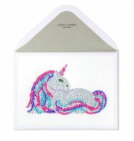 PAPYRUS® Birthday Card Gem Rainbow Unicorn by Judith Leiber