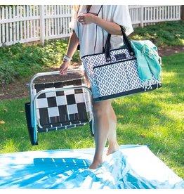 Scout Bags Teal Diamond BJ Bag Pocket Tote Bag