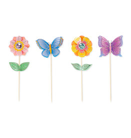 Papyrus Cupcake Party Picks 12pk Flowers And Butterflies