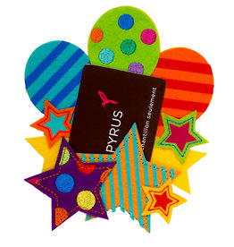 PAPYRUS® Gift Card Holder Felt Stars And Balloons