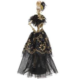 Mark Roberts Halloween Decor Fashion Skeleton Debutante 14in