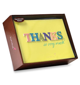 PAPYRUS® Handmade THANKS Thank You Boxed Notes Set of 8