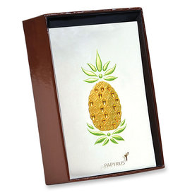 PAPYRUS® Handmade Gemmed Pineapple Blank Boxed Notes Set of 8