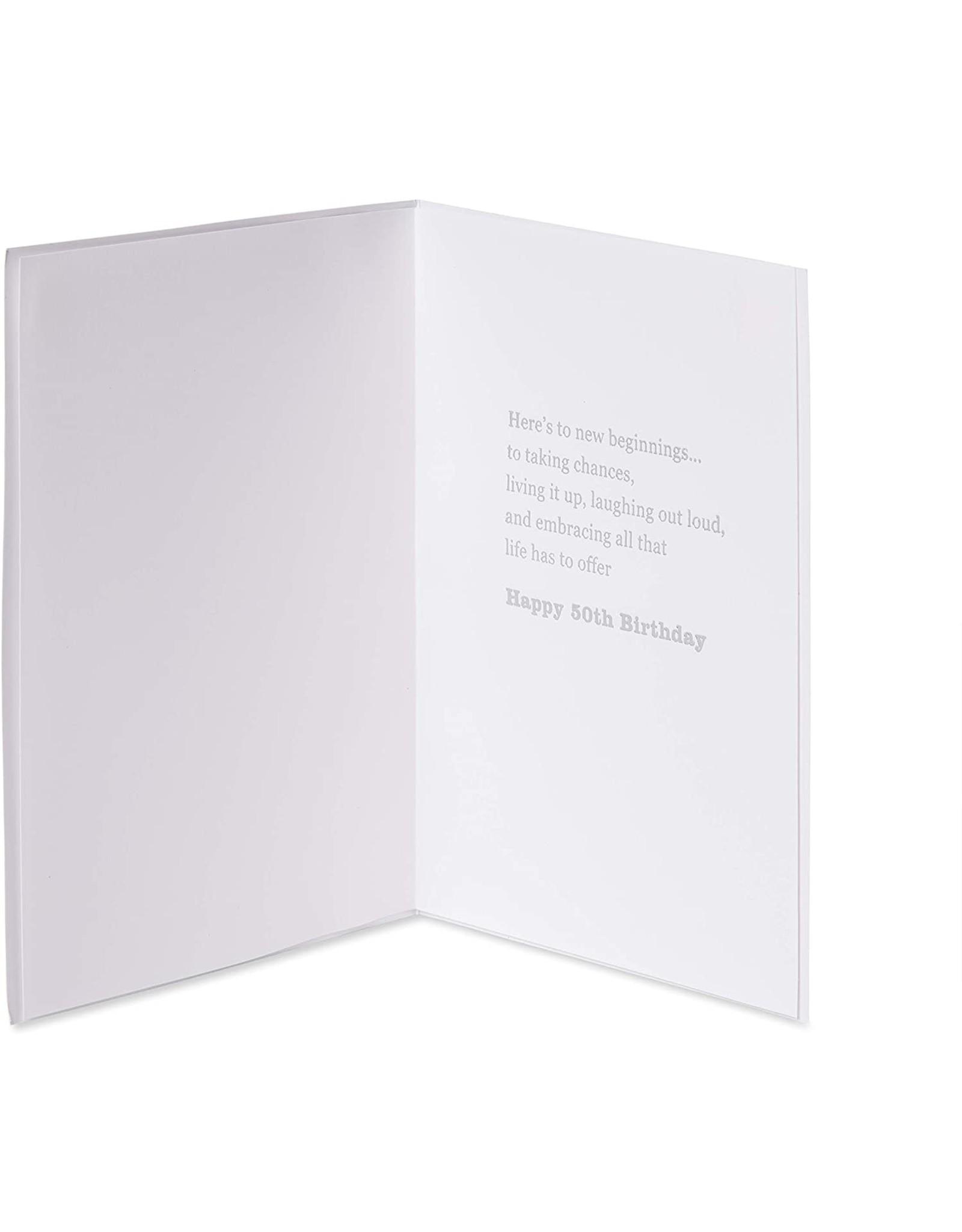PAPYRUS® Birthday Card 50th Watercolor 50th Birthday