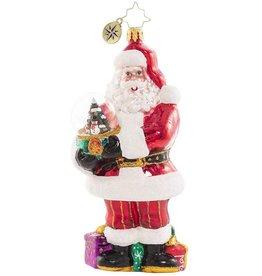 Christopher Radko Shake It Up Santa Ornament