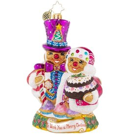 Christopher Radko Doughy Darlings Gingerbread Couple Ornament