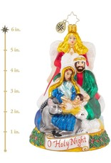 Christopher Radko All Is Calm And Bright Holy Family Ornament