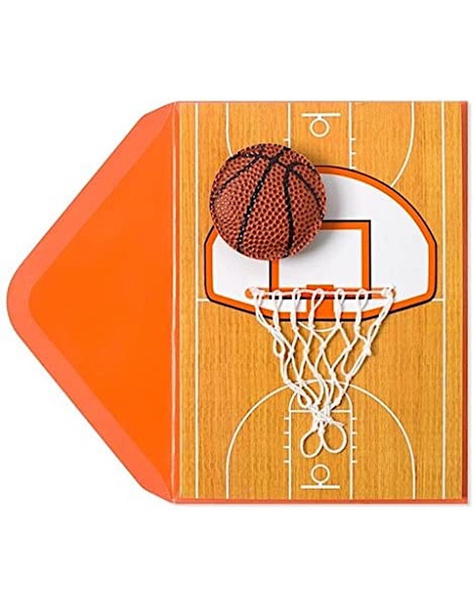 PAPYRUS® Birthday Card Handmade Basketball And Net