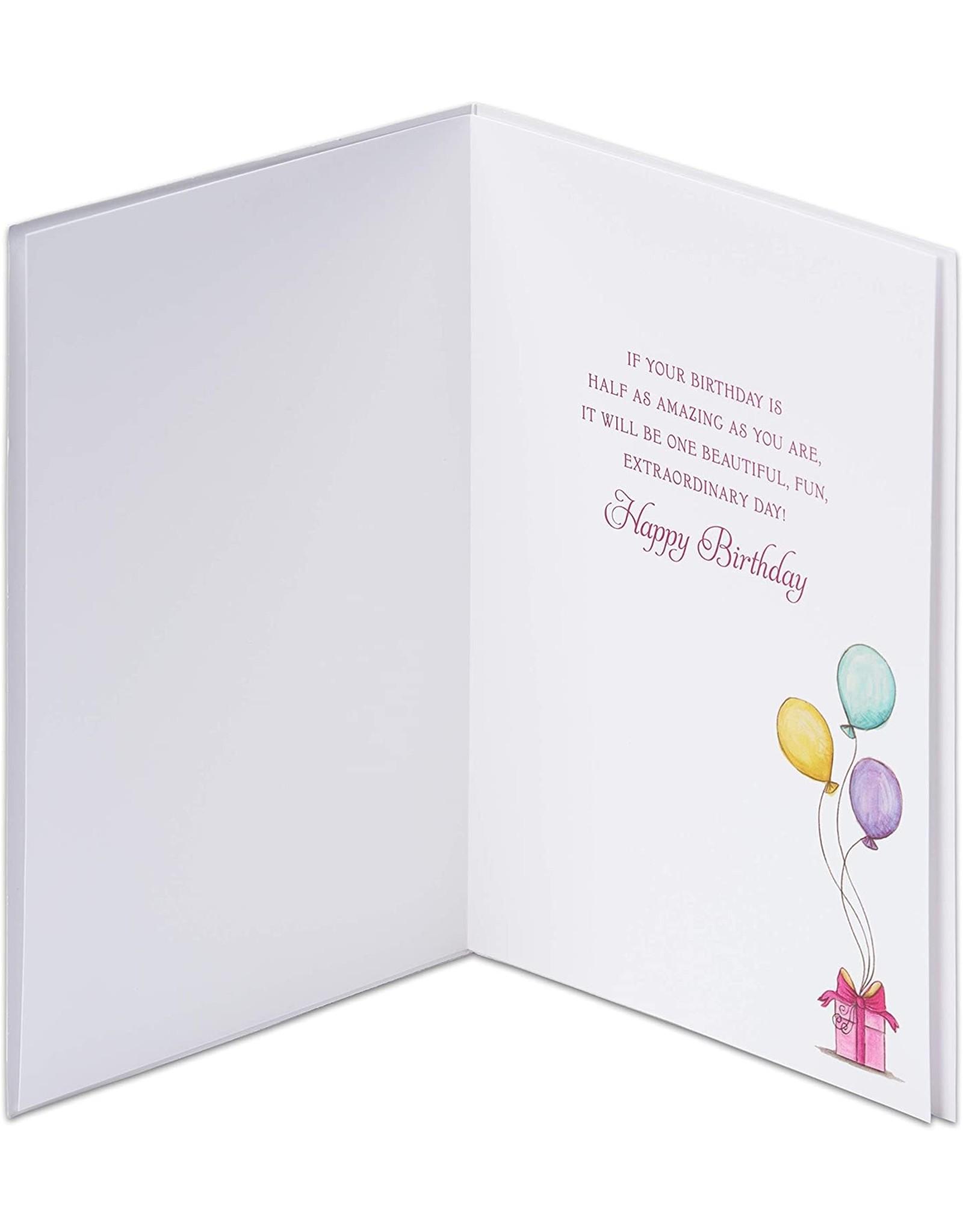 PAPYRUS® Birthday Card Girl With Balloons Bella Pilar