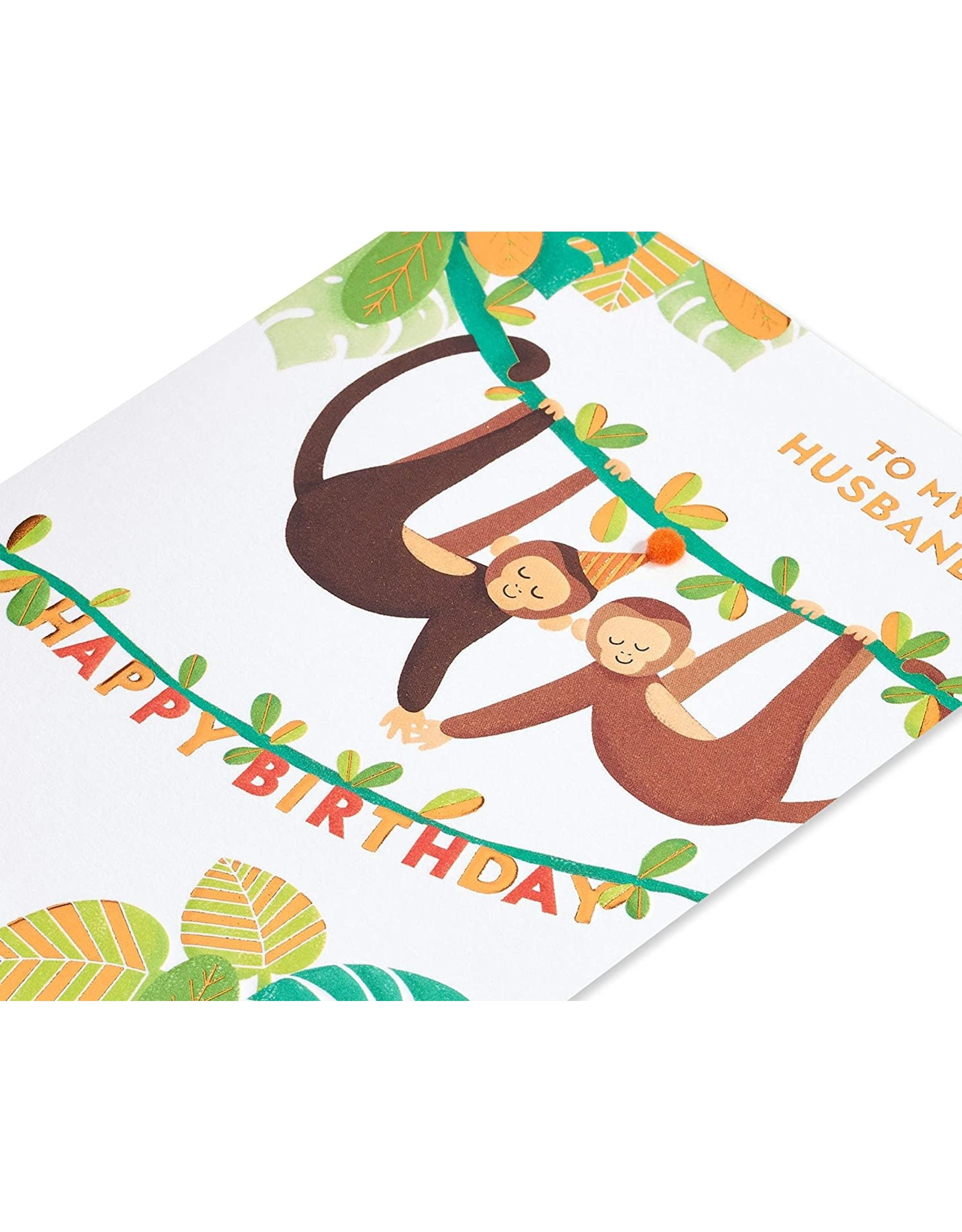 PAPYRUS® Birthday Cards For Husband Monkey Around Card