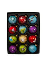 Kurt Adler 12 Days Of Christmas Ball Ornaments 12-Piece Box Set