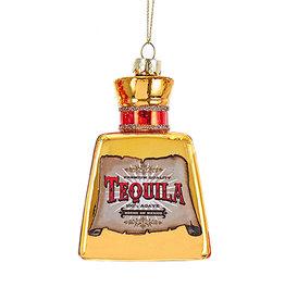 Kurt Adler Glass Tequila Bottle Ornament