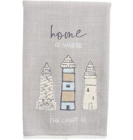 Mud Pie Sea Appliqué Towel - Home Is Where The Light Is