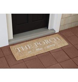 Mud Pie Porch Door Mat Extra Long Braided Jute Doormat 17x51
