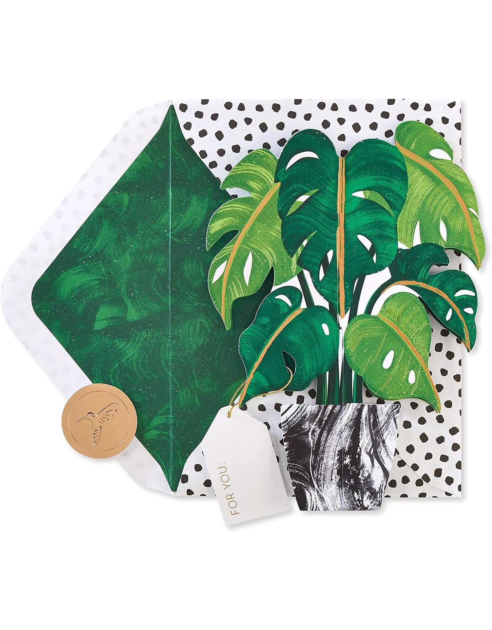 PAPYRUS® Blank Cards 3D Plant Pop Up Card