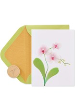 PAPYRUS® Blank Cards Orchid Blank Note Card
