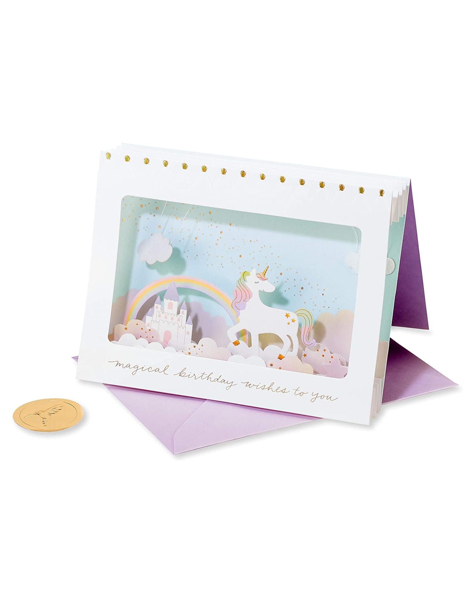 PAPYRUS® Birthday Cards 3D Unicorn Scene Birthday Card