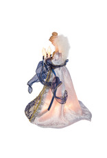 Kurt Adler Angel Christmas Treetop Blue w Gold Trim Tree Topper