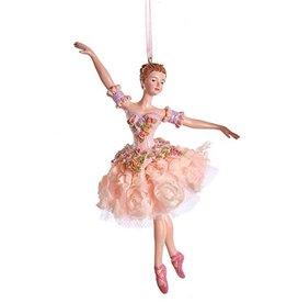 Kurt Adler Blush Pink Ballerina Ornament - Pose A