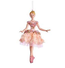 Kurt Adler Blush Pink Ballerina Ornament - Pose B