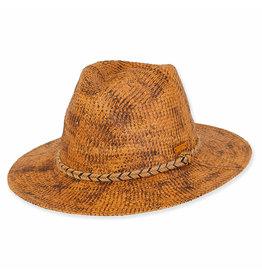 Caribbean Joe Hats for Men Paper Straw Safari - Natural