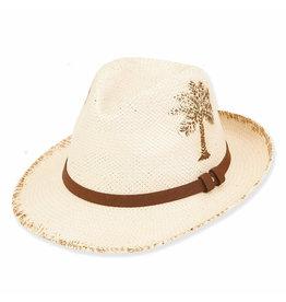 Caribbean Joe Mens Hats Paper Straw Safari - Palm - XL