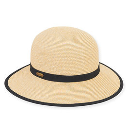 Sun N Sand Women's Hats Backless Wide Brim - Black