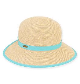 Sun N Sand Women's Hats Backless Wide Brim - Sea-foam
