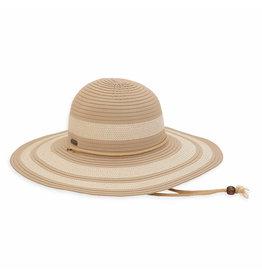 Sun N Sand Womens Hats Straw And Ribbon Floppy Brim - Tan