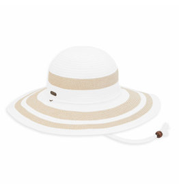Sun N Sand Womens Hats Straw And Ribbon Floppy Brim - White