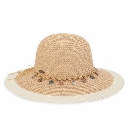 Sun N Sand Womens Hats Floppy Raffia W Bead Trim - Natural