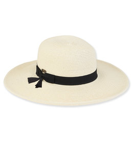 Sun N Sand Womens Hats Wide Brim Bow N Tassels Trim - Ivory