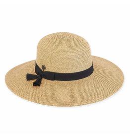 Sun N Sand Womens Hats Wide Brim Bow N Tassels Trim - Tan